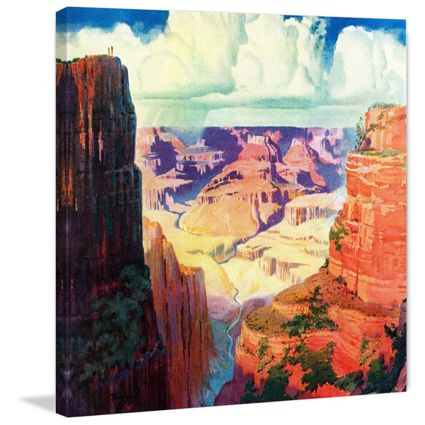 Marmont Hill - 'Grand Canyon 4' Painting Print on Wrapped Canvas - Orange