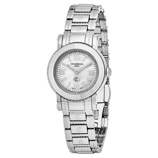 Charriol Women's P28S.P28S.004 'Parisi' Mother of Pearl Dial Stainless Steel Swiss Quartz Watch