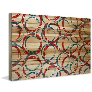 Marmont Hill - Handmade Rings of Joy Painting Print on Natural Pine Wood