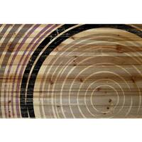 Marmont Hill - 'Tan Rings' Painting Print on Natural Pine Wood