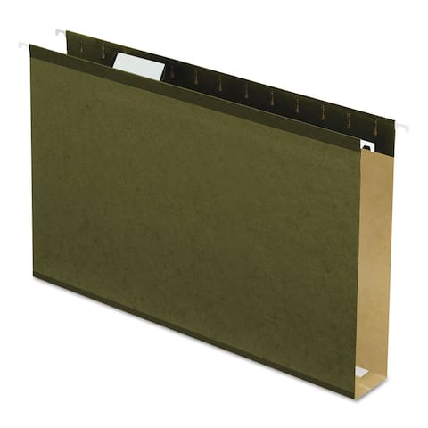 Pendaflex Reinforced 2-inch Extra Capacity Hanging Folders Legal Standard Green 25/Box