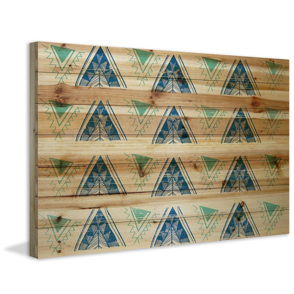 Marmont Hill - Handmade Decorative Teepees Painting Print on Natural Pine Wood