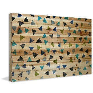 Marmont Hill - Handmade Triangle Confetti Painting Print on Natural Pine Wood