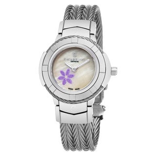 Charriol Women's CE426S.640.011 'Celtic' Mother of Pearl Dial Stainless Steel Swiss Quartz Watch
