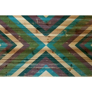 Marmont Hill - Handmade Conjoined Color Painting Print on Natural Pine Wood