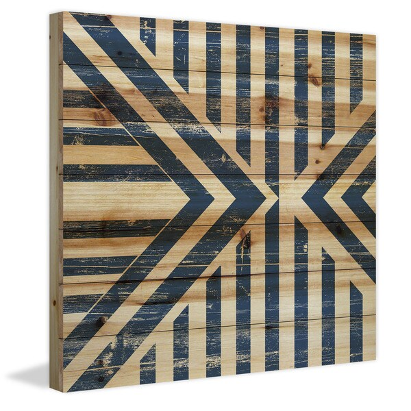 Marmont Hill - Handmade Meeting Vees Painting Print on Natural Pine Wood