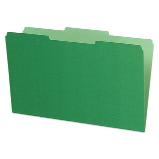 Pendaflex Interior File Folders 1/3 Cut Top Tab Legal Green 100/Box