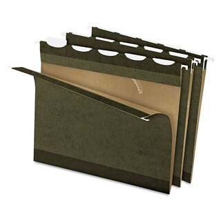 Pendaflex Ready-Tab Reinforced Hanging Folders 1/5 Tab Letter Green 25/Box