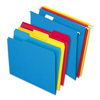 Pendaflex Essentials Combo Kit Hanging File Folders 1/3 Tab Letter Assorted 12 Sets/Box