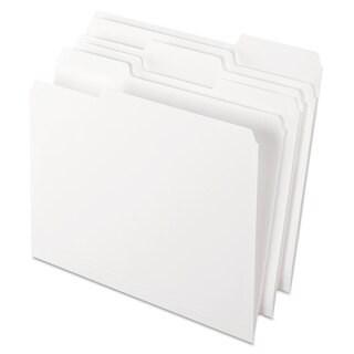 Pendaflex Colored File Folders 1/3 Cut Top Tab Letter White 100/Box