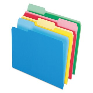 Pendaflex CutLess/WaterShed File Folders 1/3 Cut Top Tab Letter Assorted 100/Box