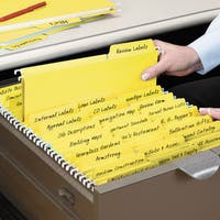 Smead FasTab Hanging File Folders Letter Yellow 20/Box
