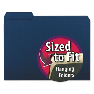 Link to Smead Interior File Folders 1/3 Cut Top Tab Letter Navy 100/Box Similar Items in Binders