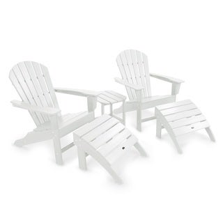 POLYWOOD South Beach White Adirondack 5-Piece Set