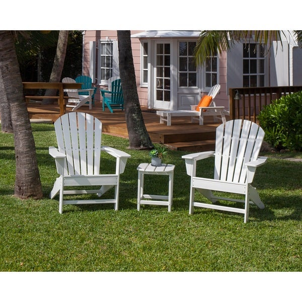 POLYWOOD South Beach Adirondack Chair 3 Piece Set