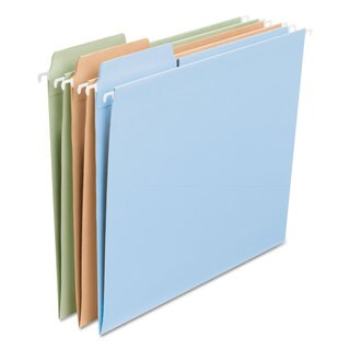 Smead FasTab Hanging File Folders Letter Assorted Fashion 18/Box
