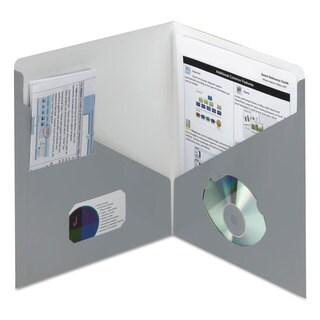 Smead Contemporary Classics Two-Pocket Folder 11 x 8 1/2 Blue Grey 25/Box