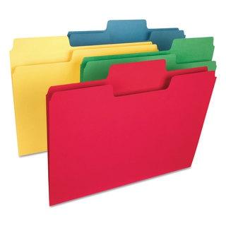 Smead SuperTab Heavyweight Folder 1/3 Tab 3/4-inch Exp. Letter Assorted 50/Box