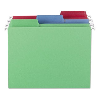 Smead Erasable FasTab Hanging Folders 1/3-Cut Letter 11 Point St Assorted 18/Box