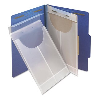 Smead Two-Hole Letter/Legal Poly Expanding Jackets Legal/Letter Poly Clear 24/Box