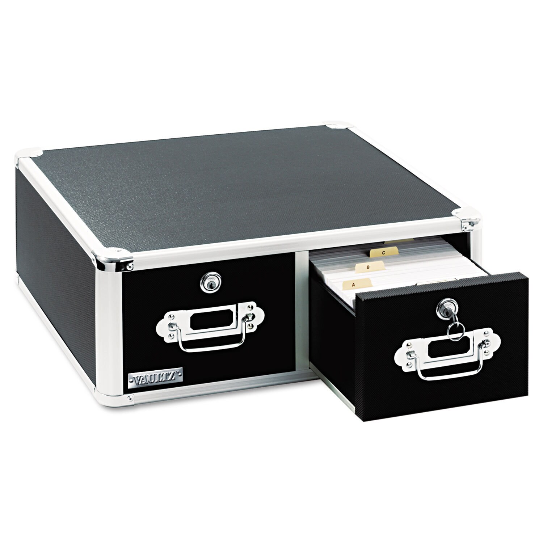 Vaultz Locking 5 x 3 Two-Drawer Index Card Box 3000-Card ...