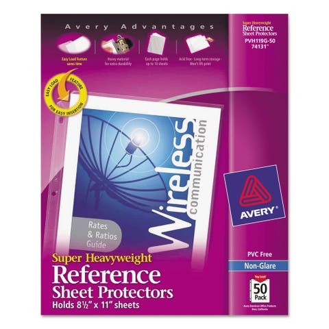 Avery Top-Load Poly Sheet Protectors Super Heavy Gauge Letter Nonglare 50/Box