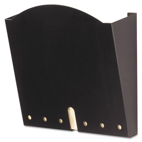 Safco HIPAA-Compliant Wall Pocket Letter Black 12 x 3 x 10 3/4