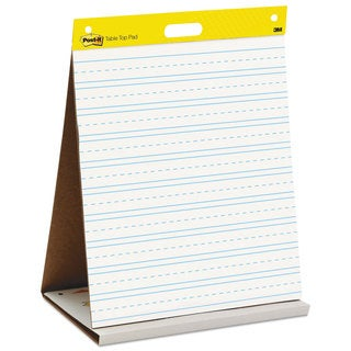 Post-it Easel Pads Self-Stick Tabletop Easel Primary Ruled Pad 20 x 23 White 20 Sheets/Pad