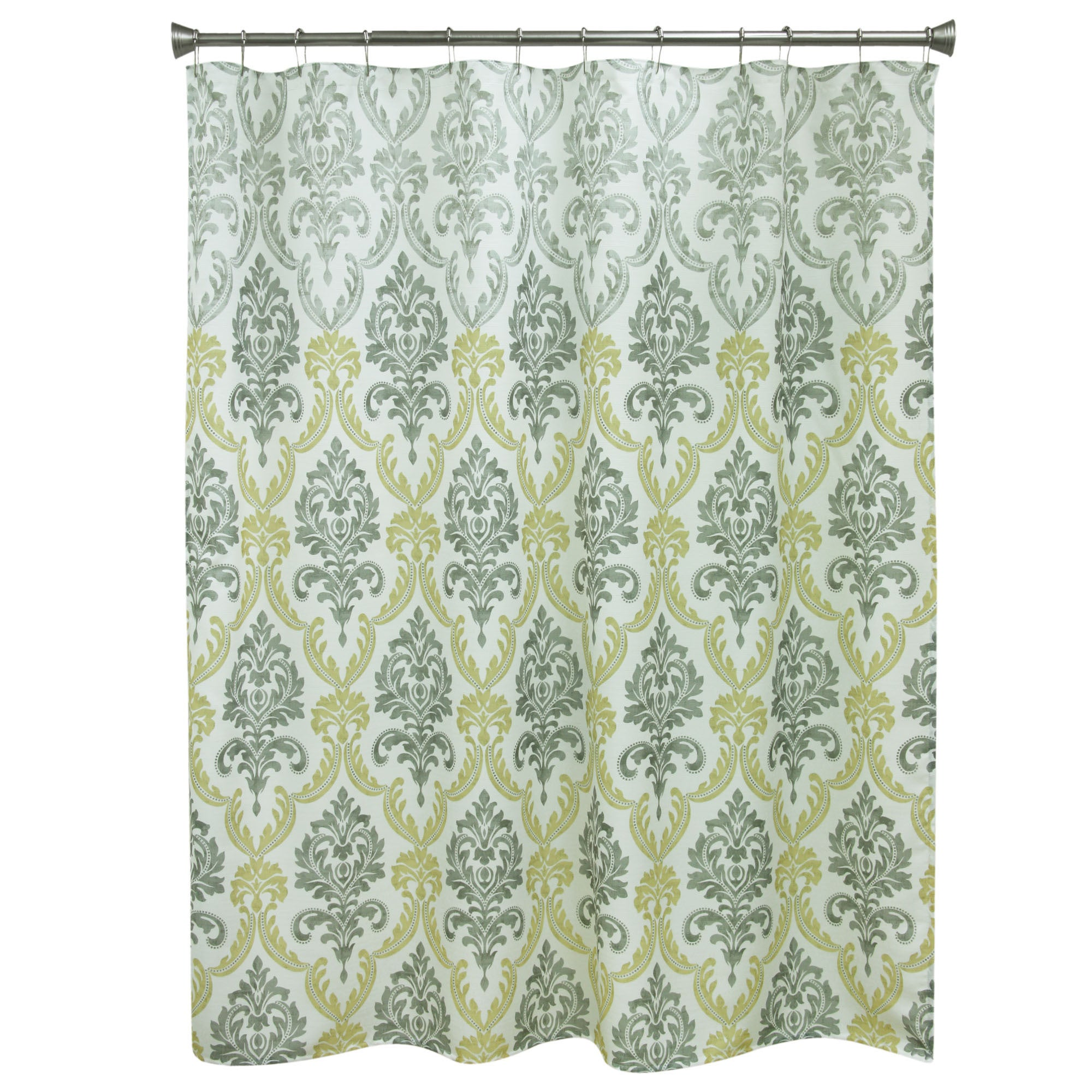 BACOVA Portico Yellow Fabric Shower Curtain (Portico yell...