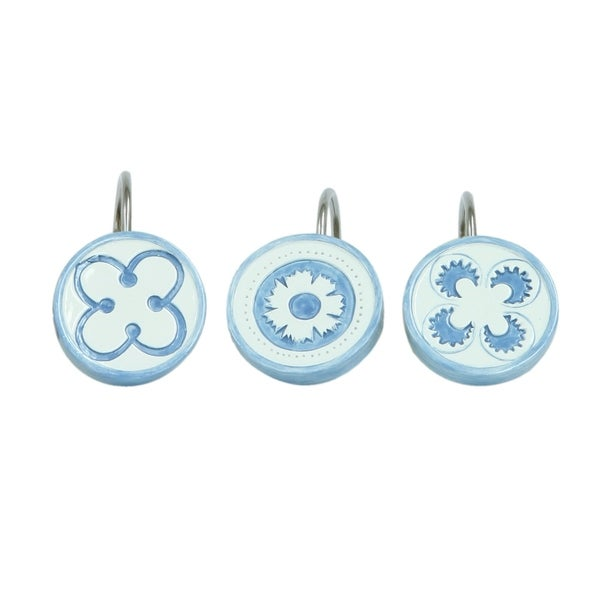 Merry May Floral Shower Curtain Hooks (Set of 12)