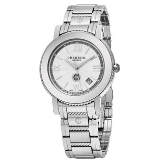 Charriol Men's P42S.P42.001 'Parisi' Silver Dial Stainless Steel Swiss Quartz Watch