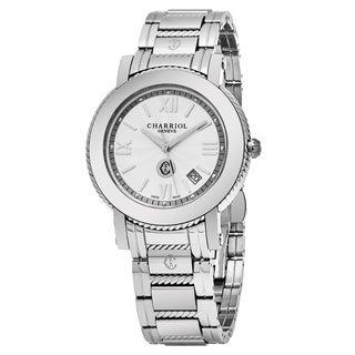Charriol Men's P42S.P42.001 'Parisi' Silver Dial Stainless Steel Swiss Quartz Watch|https://ak1.ostkcdn.com/images/products/14002019/P20624824.jpg?_ostk_perf_=percv&impolicy=medium