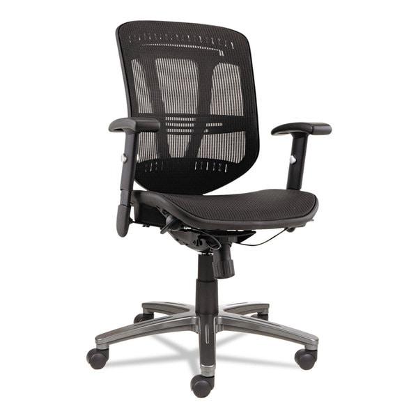 Alera Alera Eon Series Multifunction Wire Mech, Mesh Chair, Black - 25.75 x 25.5 x 42.5