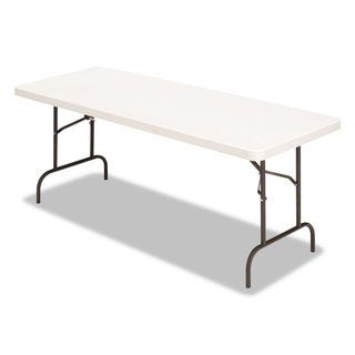 Alera Banquet Folding Table Rectangular Radius Edge 60 x 30 x 29 Platinum/Charcoal - N/A