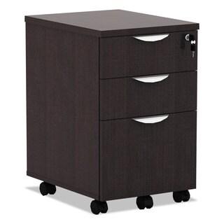 Alera Valencia Mobile Box/Box/File Pedestal File 15 7/8 x 20 1/2 x 28 3/8 Espresso