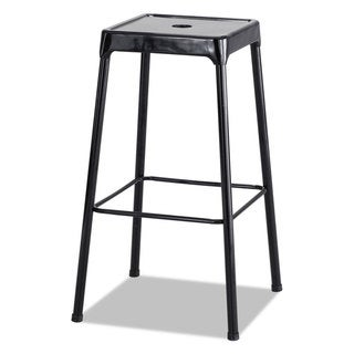 Safco Bar-Height Steel Stool Black