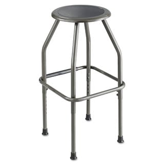 Safco Diesel Series Industrial Stool Stationary Padded Seat Steel Frame Pewter