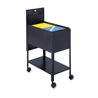 Safco Extra-Deep Locking Mobile Tub File 13-1/2-inch wide x 24-3/4-inch deep x 28-1/4-inch high Black