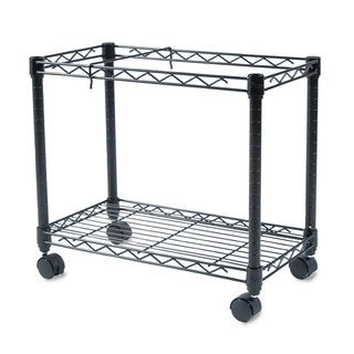 Fellowes High-Capacity Rolling File Cart 24-inch wide x 14-inch deep x 20-1/2-inch high Black