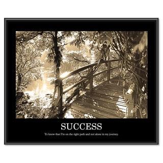 Advantus inchesSuccess inches Framed Sepia Tone Motivational Print 30 x 24