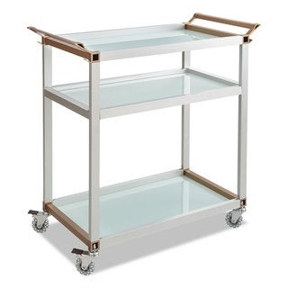 Safco Large Refreshment Cart Three-Shelf 32-inch wide x 16 3/4-inch deep x 35h Silver