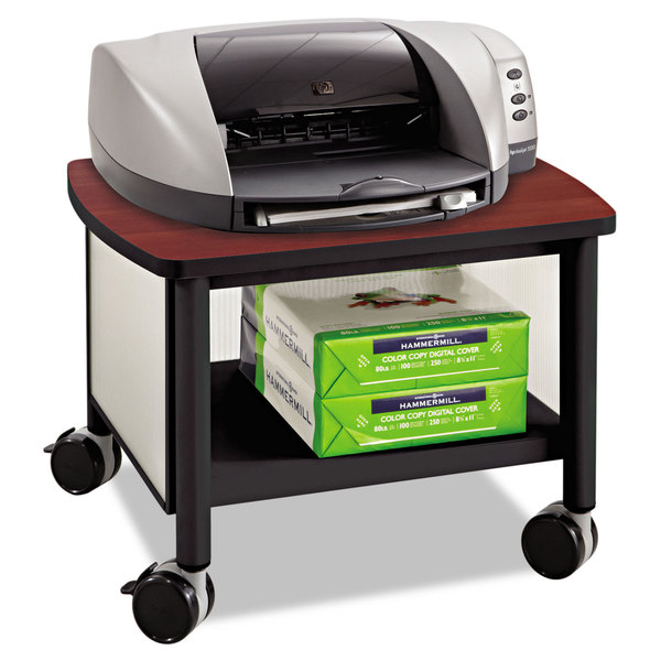 Safco Impromptu Under Table Printer Stand 20 1 2 Inch Wide X 16 Deep 14 2h Black Cherry Free Shipping Today 14002265