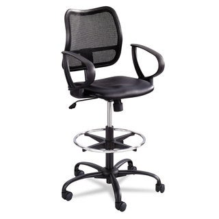 Safco Vue Series Mesh Extended Height Chair Vinyl Seat Black