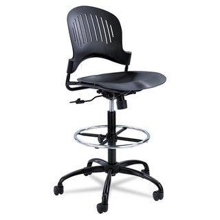 Safco Zippi Plastic Extended-Height Chair Black