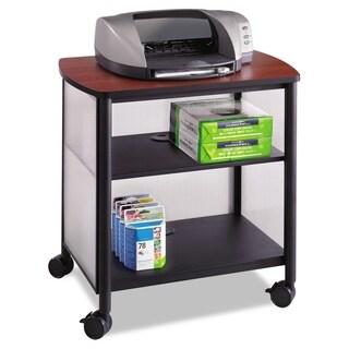 Safco Impromptu Machine Stand One-Shelf 26-1/4-inch wide x 21-inch deep x 26-1/2-inch high Black/Cherry
