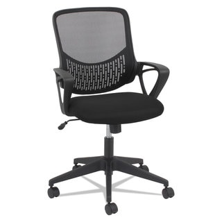 OIF Modern Mesh Task Chair Fixed Triangle Arms Black
