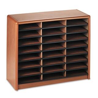 Safco Steel/Fiberboard Literature Sorter 24 Sections 32 1/4 x 13 1/2 x 25 3/4 Oak