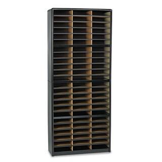Safco Steel/Fiberboard Literature Sorter 72 Sections 32 1/4 x 13 1/2 x 75 Black