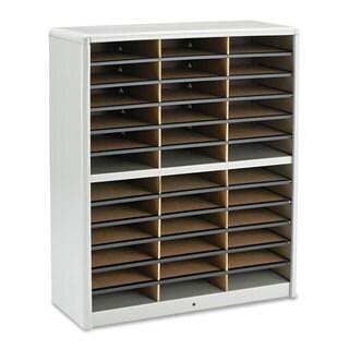 Safco Steel/Fiberboard Literature Sorter 36 Sections 32 1/4 x 13 1/2 x 38 Grey