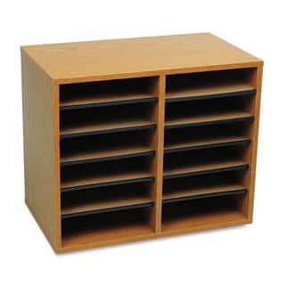 Safco Wood/Fiberboard Literature Sorter 12 Sections 19 5/8 x 11 7/8 x 16 1/8 Oak|https://ak1.ostkcdn.com/images/products/14002366/P20624898.jpg?impolicy=medium